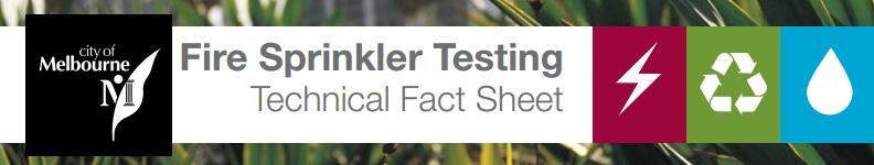 Fire sprinkler fact sheet