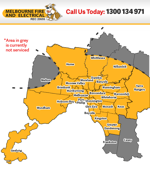 Coverage map of areas we service in Melbourne