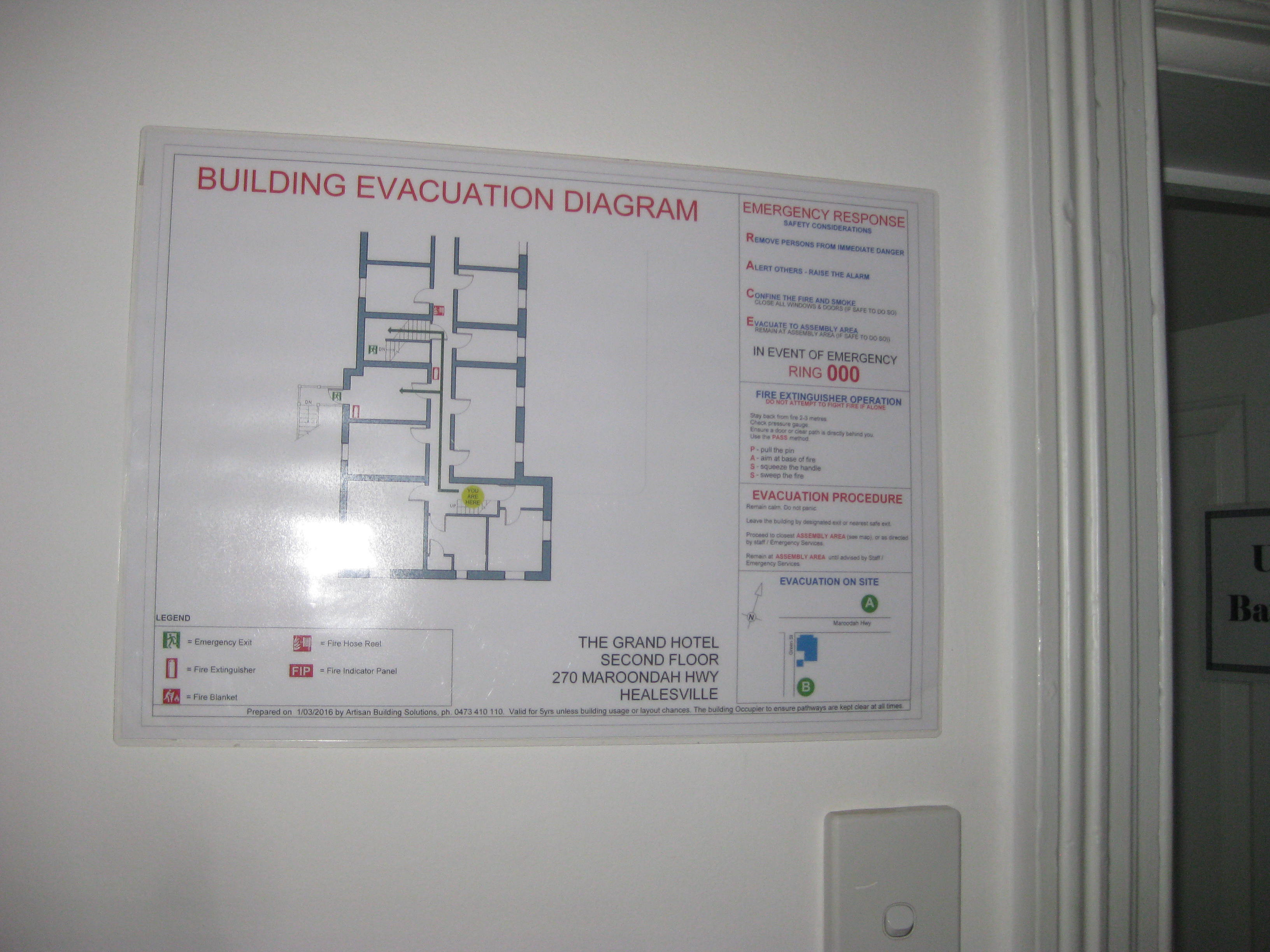 News fire protection services melbourne archives page 2 of 5 image 5 simple evacuation diagram for a hotel level 2 asfbconference2016 Images