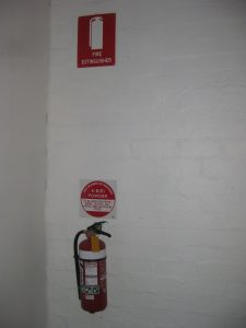 fire extinguisher with sign melbourne